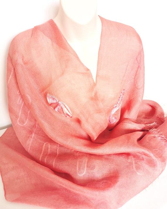 BRIONI Vintage Designer Salmon Pink Linen Silk Mix