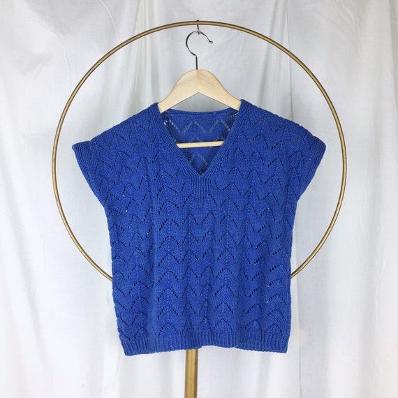 IRIS knit top SM/MED / crop top / hand knit top /