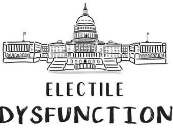 Electile Dysfunction Anti-Trump Politics Political Protest Resistance Postcard