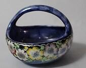 Maling Pottery Basket Bowl Art Deco Lustre Ware Newcastle England