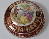 Vintage LIMOGES MEISSNER Trinket Box B19 with Lid FRAGONARD Image
