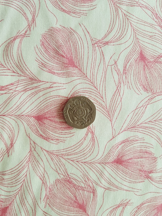 100/% Cotton Fabric Rose /& Hubble Vintage Ink Stamps From Around The World