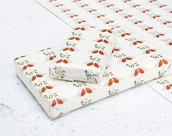 Turtle Doves Wrapping Paper - A2 Sheets, Eco Gift Wrap