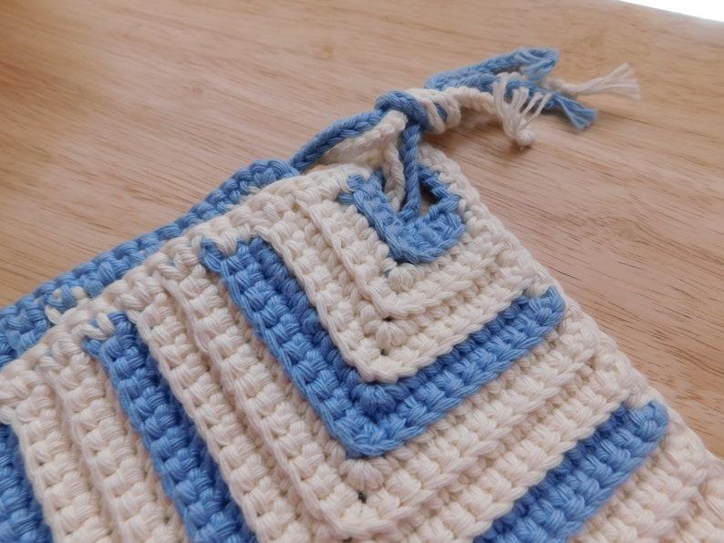 Classic German Hand Crocheted Potholders Diamond Shape Set of 2
