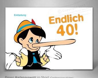 Einladungskarte 40 Geburtstag Etsy