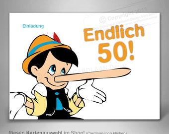 Lustige Einladungskarten Zum 50 Etsy