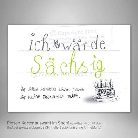 Einladungen 60 Geburtstag Sechzigster Geburtstag Lustige Etsy