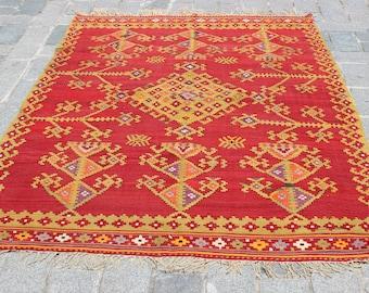 Tappeti Kilim Antichi : Tappeto kilim rosa tribale tappeto colorato bohemien etsy