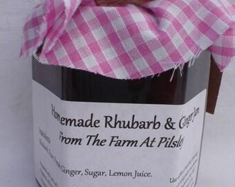 Homemade Rhubarb & Ginger Jam
