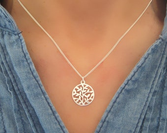 Necklace fine tree of life pattern vegetable 925 sterling