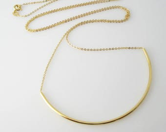 Feature long curved 925 silver plated or 18 k 90 cm