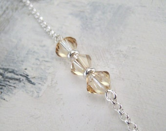 Bracelet pearls Swarovski Crystal and Silver 925/1000