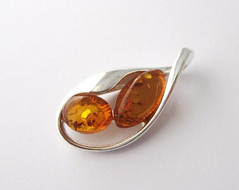Earrings genuine amber Baltic Sea Silver 9251000th