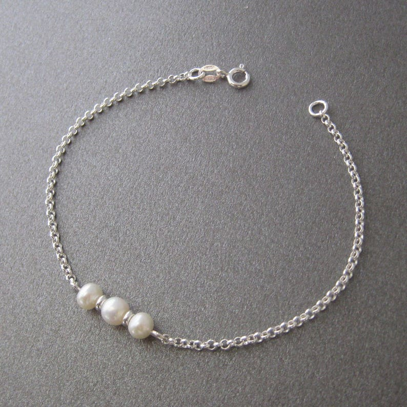 Bracelet three pearls and Silver 9251000