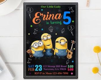 Minions Invitation, Minion Birthday Invitation, Minion Instant Download, Editable PDF Template, Minions Editable, Minions Birthday Party