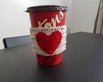 Coffee Cup Cozy, Reusable Coffee Sleeve, Reusable Coffee Cup Sleeve, Drink sleeve