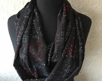 Student Gifts Math Scarf Mathematics Infinity Scarf Math Teacher Gift Mathematician Accessories Holiday Gift for Women