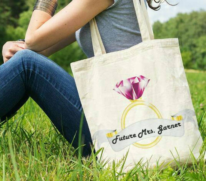 Engagement Gift Personalized Future Mrs Engagement Tote Bag Engaged Gift Engagement Gift for Bride Proposal Gift Engagement Announcement