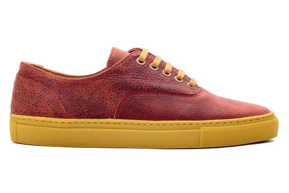RougesRittSneakersRood Rot de Rote Chaussures LederschuheSneakers Tennis HalbschuheZapatillas LeerCuero RojoRotem FrauenOben RojasKörbe ZPkXOiuT