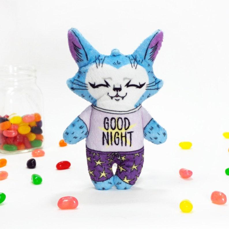 Good Night Jamie the Cat  Super Soft fabric plush cat doll image 0