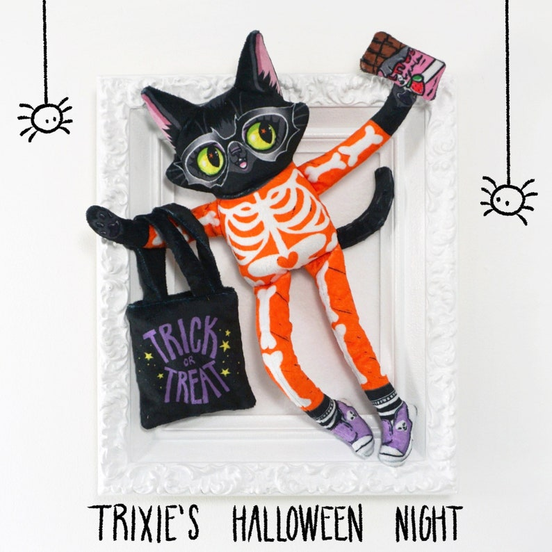 Cat Doll  Trixie's Halloween Night  Super cute and soft image 0