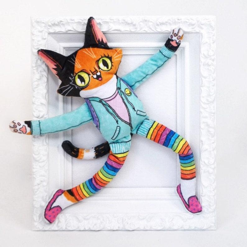 Matilda the Wildcat goes to school  Cat plush doll super soft image 0