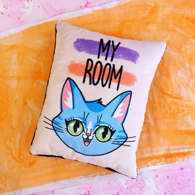 My Room  kids room pillow  super soft minky fabric  image 0