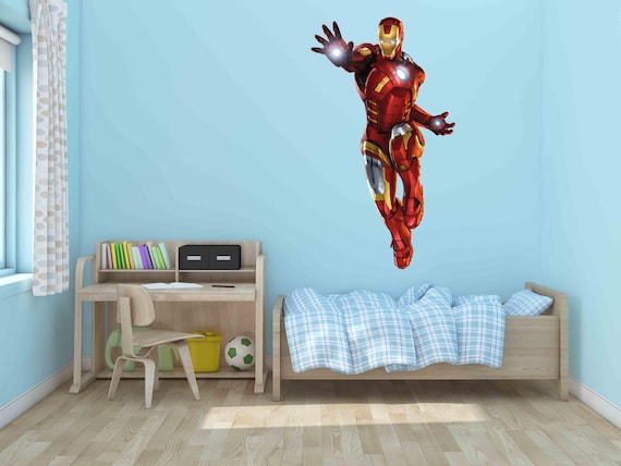 3 Sizes IRON MAN The Avengers Decal Removable WALL STICKER Home Decor Art Movie