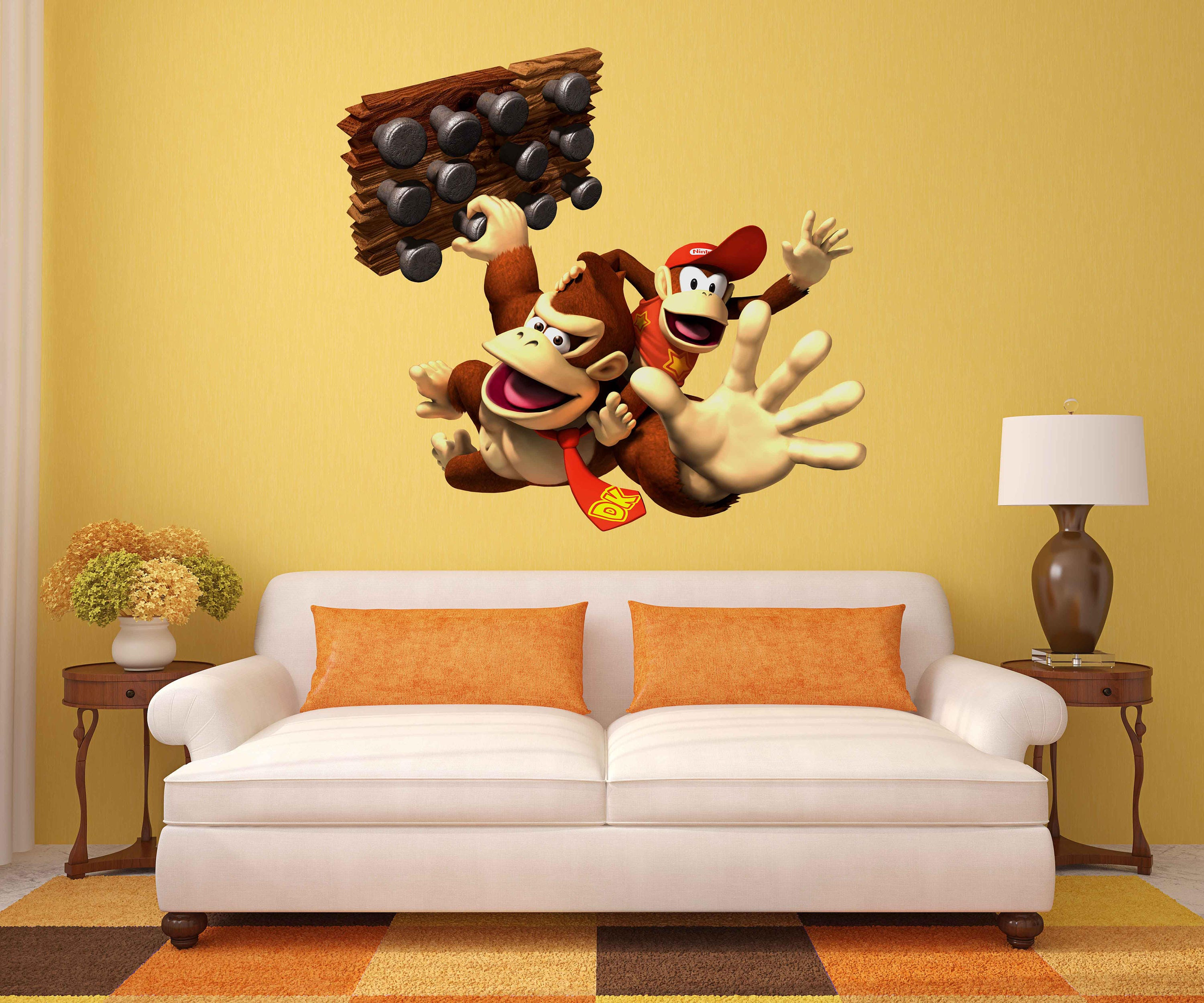 Donkey Kong Decals Diddy Kong Game Room Vintage Nintendo   Etsy