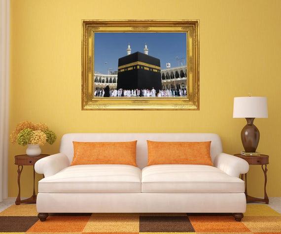Islamic Wall Decal Kaaba Wall Murals Mecca Wall Mural Etsy