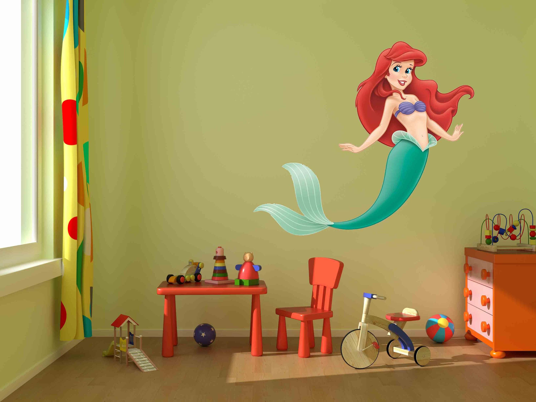 Disney decalsAriel Decal Little Mermaid artRemovable | Etsy