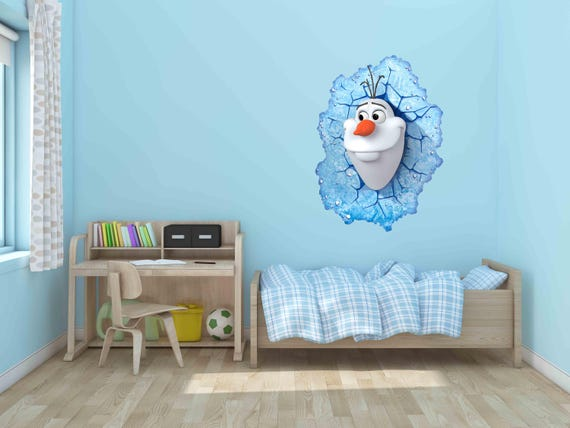 OLAF from FROZEN WALL ART STICKER 4 x sizes Mural PERSONALISED Decal