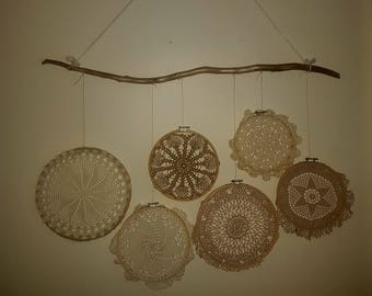 Rustic Doily Wall Hanging Dreamcatcher