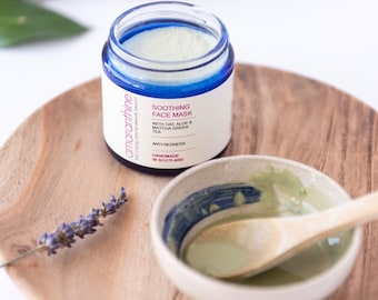 Soothing face mask - rosacea - sensitive skin - redness relief -inflamed skin - natural face mask - vegan face mask -amaranthinebeauty