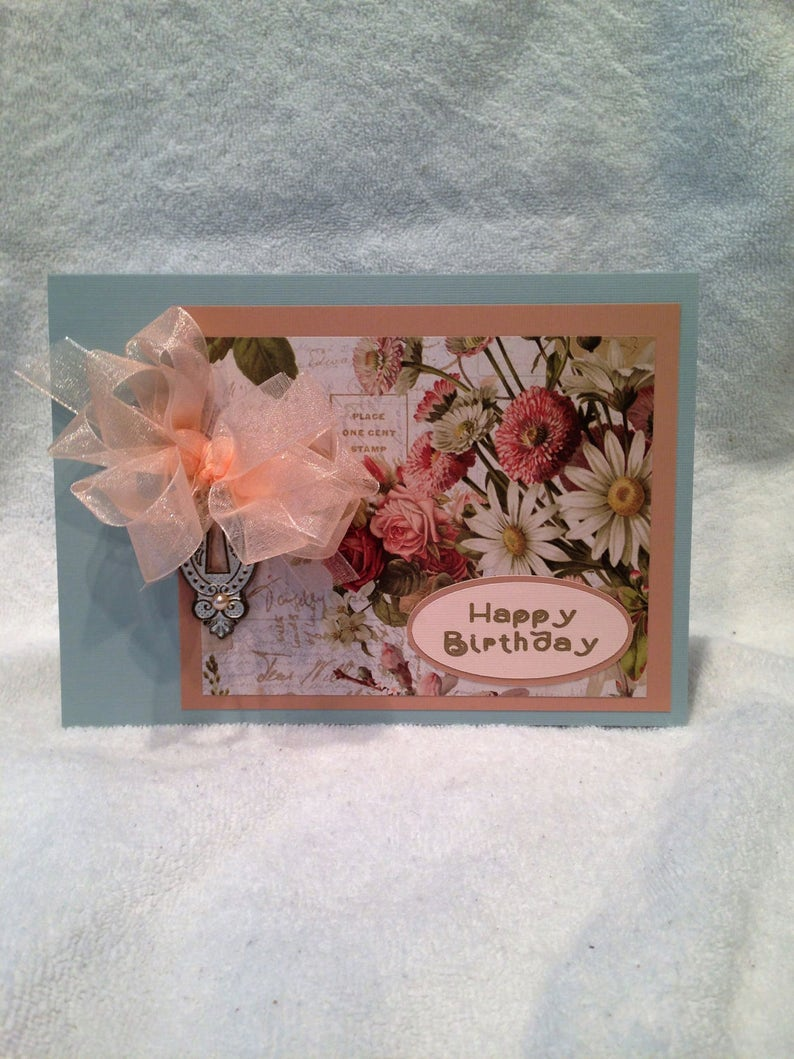 Happy Birthday Card Handcrafted Greeting W Verse