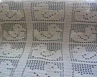 Ducky Crocheted Baby Blanket