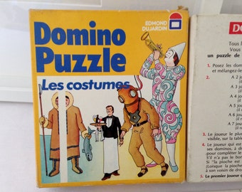 "Game Domino Puzzle ""costumes"" Edmond Dujardin. Vintage 1970's"