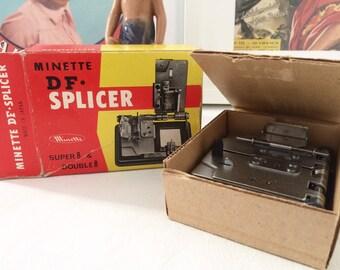 Splicer Minette DF Splicer. Super 8 & 8 Double splicer. Vintage 1970's
