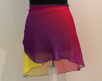 Ombre Ballet Skirt Yellow-pink-purple