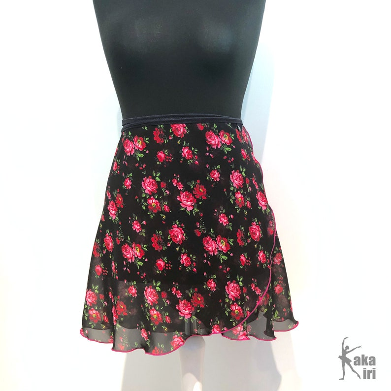 Ballet wrap skirt Rosegarden handmade