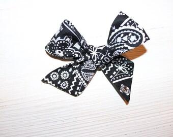 white plaid coral school girl clip coral plaid headband sailor bow dance-