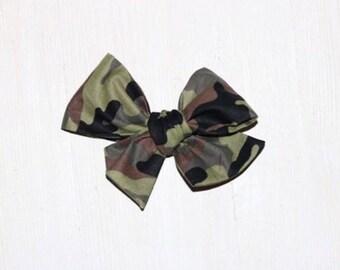 dance- coral headband clip sailor bow plaid white coral plaid school girl