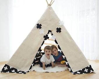 Monochrome Nursery - Black and White Nursery - Black and White Nursery Decor - Kids Room Decor - Kids Decor -Swiss Cross - Playroom Garland