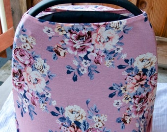 Pink Floral Nursing Cover / Carseat Cover