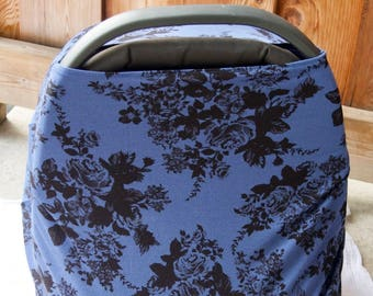 Sapphire Floral Nursing Cover / Carseat Cover
