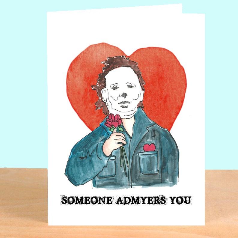 58bb406c7cf6 Michael Myers Valentine Greeting Card Horror Movie John