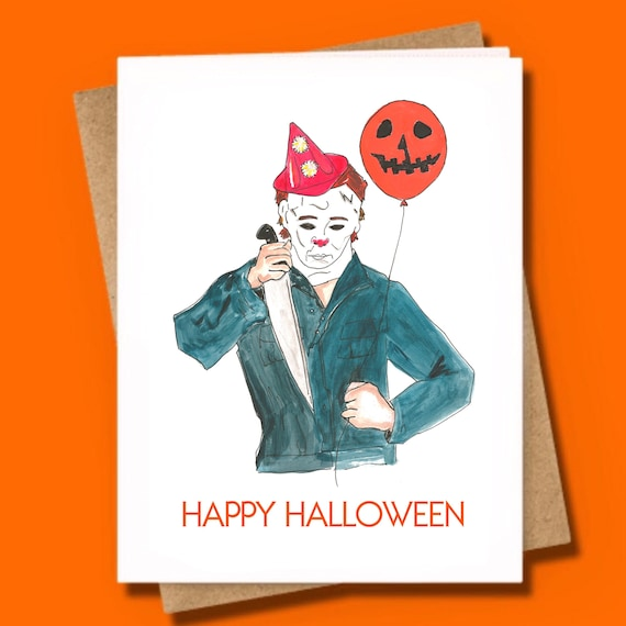 Michael Myers Halloween Greeting Card Horror Movie John | Etsy