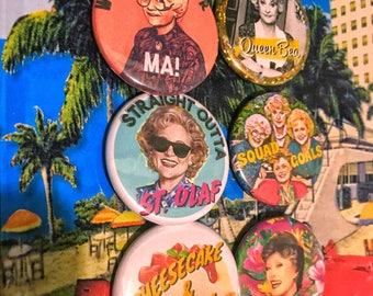 "Golden Girls Pin Back Button Pack Squad Goals 1.5"" Pinback Buttons Best Friend Christmas Gift Stocking Bea Arthur Bridesmaid Bachelorette"