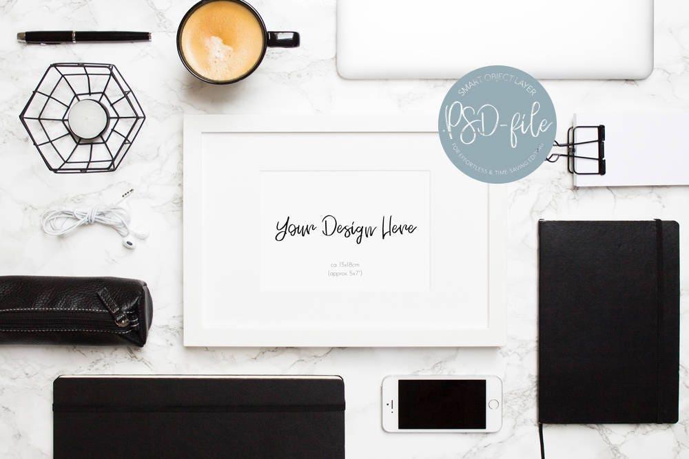 White Frame Mockup Styled Stock Photography IKEA RIBBA Mock
