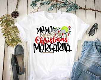 ee537418a014 Mommy Needs a Christmas Margarita, Christmas Shirt, Holiday Shirt, Womens  Christmas, Christmas, Merry Christmas, Adult Christmas, Xmas Shirt